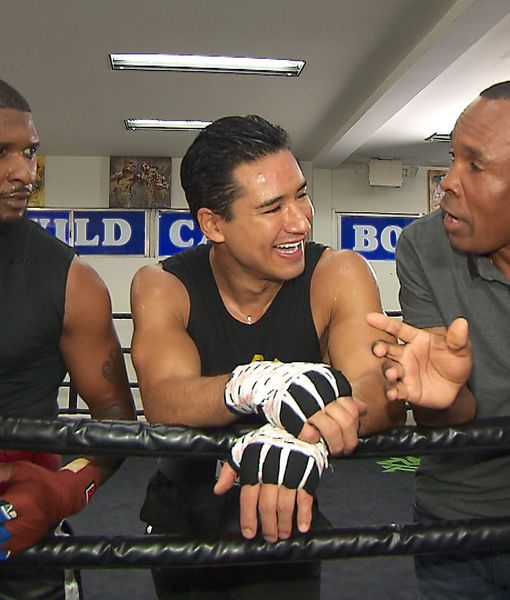 Usher & Mario Lopez Go for a Round of Boxing with Sugar Ray Leonard as…