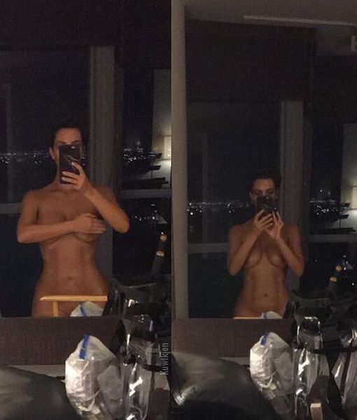 Kim 'Naked Selfies Until I Die' Kardashian Shows Off Spray Tan