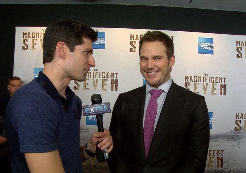 Chris Pratt Jokes He Might Have Hidden Chaps at 'The Magnificent Seven' Premiere