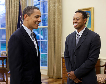tiger woods barack obama