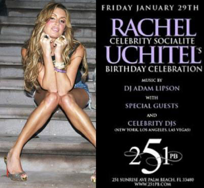 Rachel Uchitel birthday party invite