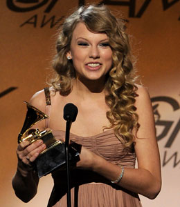Taylor Swift wins first Grammys