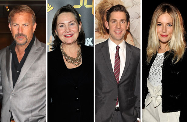 Kevin Costner, Cherry Jones, John Krasinski and Sienna Miller