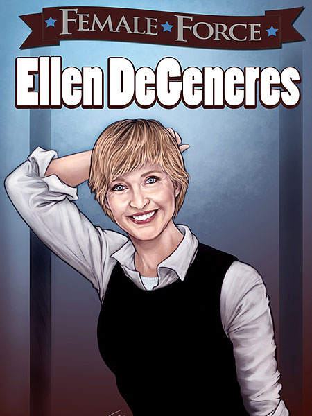 Ellen DeGeneres on cover of Female Force