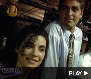 George Clooney On Set of ER Pilot Episode