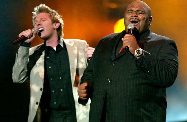 Clay Aiken and Ruben Studdard