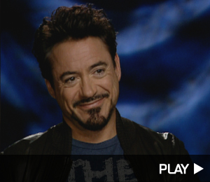 Robert Downey Jr. chatting about his musical
