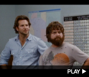 Bradley Cooper and Zach G in The Hangover movie trailer