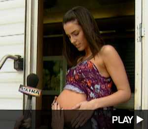 Jessica Lowndes on the set of 90210 pregnant