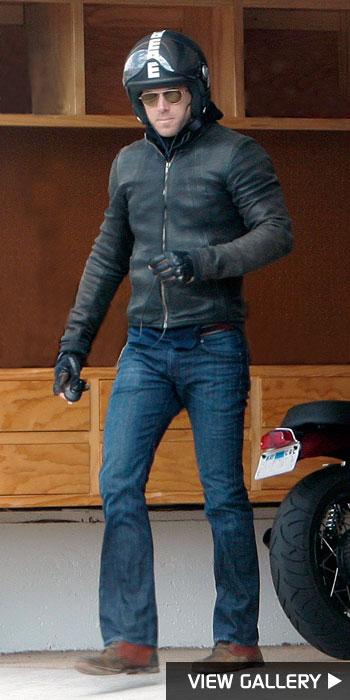 Ryan Reynolds motorcycle in hollywood