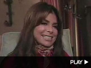 Paula Abdul relaxing at home