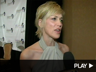 Sharon Stone talks about the First Ladies of African Health Summit.