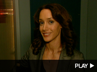 Jennifer Beals on the set of 'Lie To Me'