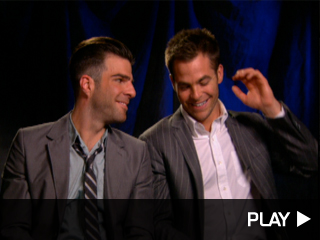 Chris Pine and Zachary Quinto chat about 'Star Trek'
