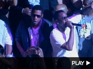 Jay-Z and PDiddy at Tao Nightclub