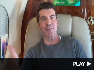 Simon Cowell on his private jet