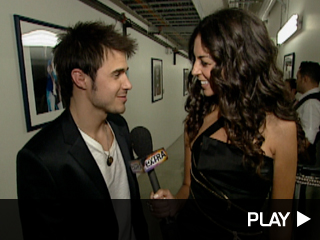 Kevin Allen backstage with Terri Seymour