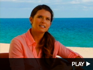 Danica Patrick on the beach.