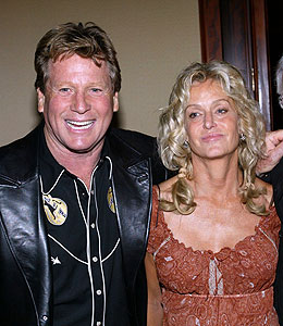 Ryan O'Neal and Farrah Fawcett tried to tie the knot