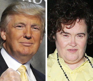 donald trump talks about susan boyle