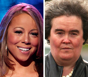 Mariah Carey reacts to Susan Boyle's breakdown