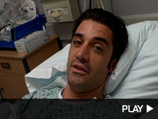Gilles Marini in the hospital.