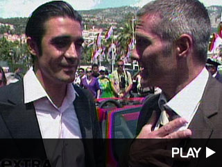 Gilles Marini in Monte Carlo with actor Rob Estes