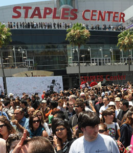 Michael Jackson's public memorial was a worldwide event -- and it's costing Los Angeles big bucks.