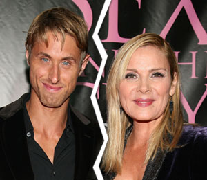 kim cattrall splits from boyfriend