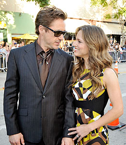 robert downey jr steps out with wife