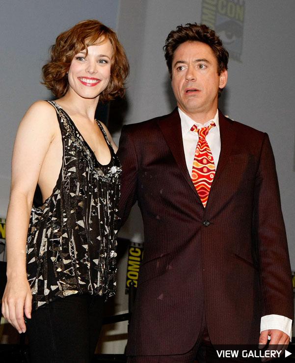 Rachel McAdams and Robert Downey Jr at Comic-Con