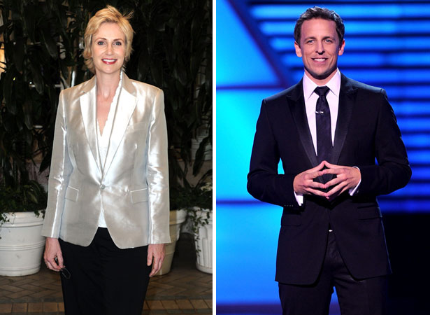 jane lynch and seth meyers