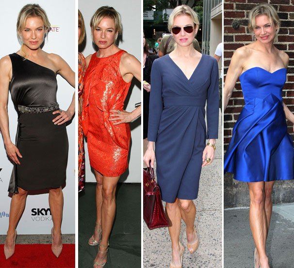 All this week, Renée Zellweger has been wearing Carolina Herrera dresses in the Big Apple on her 'My One and Only' promo tour.