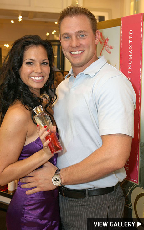 Melissa Rycroft and fiance Tye Strickland at Victoria's Secret Beauty in L.A.