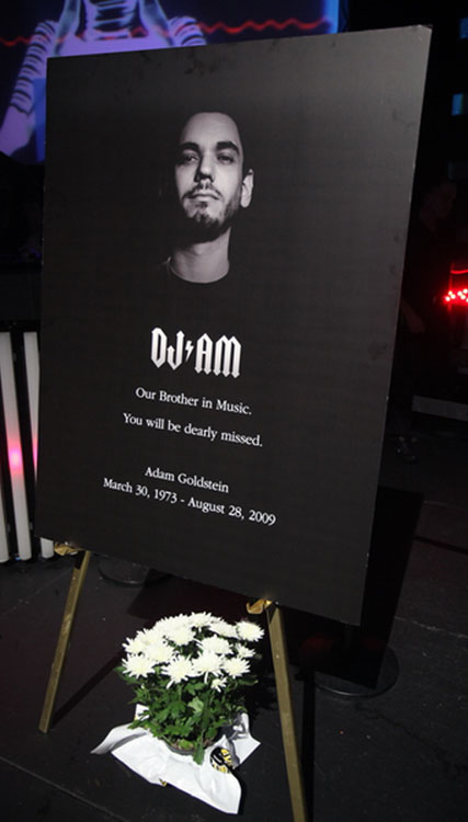 Rain nightclub observed a moment of silence in honor of DJ AM