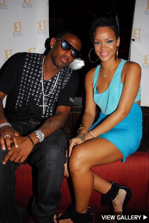 Rihanna and Fabolous at JET