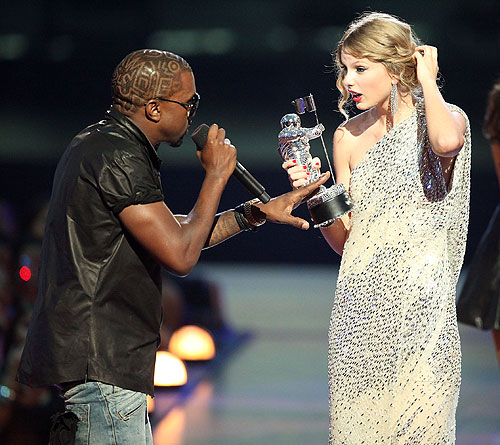 kanye west vmas staged