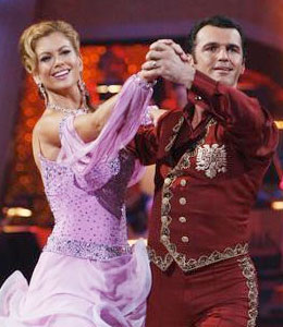 Kathy Ireland and pro partner Tony Dovolani said goodbye to Dancing with the Stars