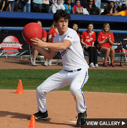 jonas brothers charity kickball game