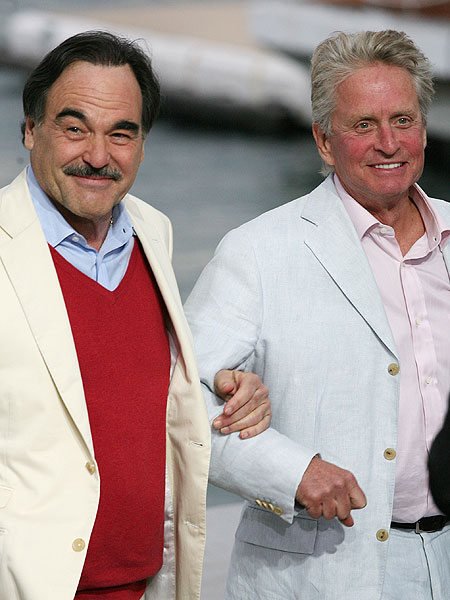 Michael Douglas and Oliver Stone