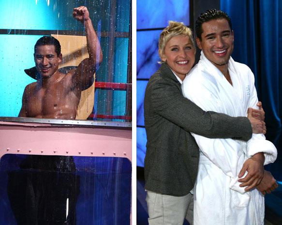 Mario Lopez and Ellen DeGeneres