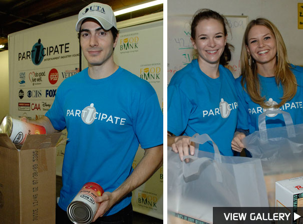 Brandon Routh, Danielle Panabaker and Jennifer Morrison are Hollywood's hot volunteers