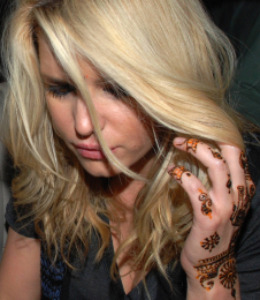 Jessica Simpson India Henna Tattoo