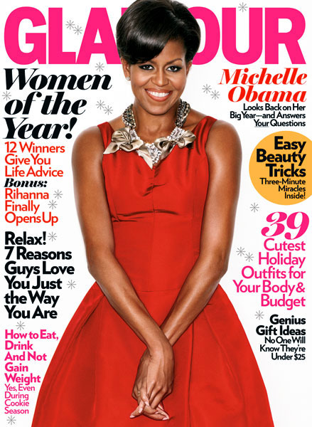 michelle obama dating glamour magazine