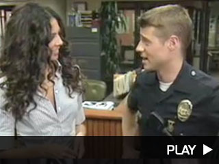 Terri interviews Ben McKenzie on the set of