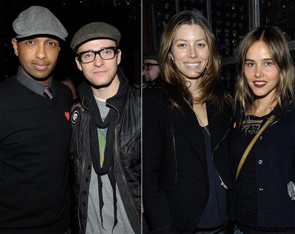 Justin Timberlake and Jessica Biel show PDA