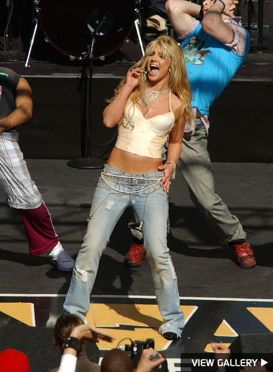Britney Spears performing on stage