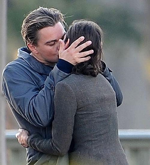 leonardo dicaprio kissing marion cotilliard