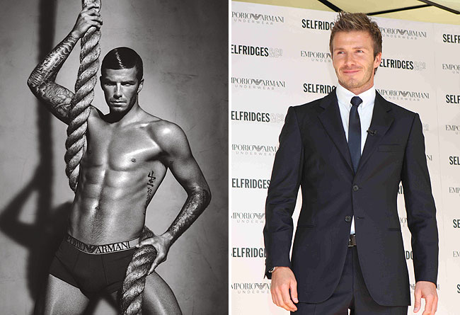 Half naked becks extratv beckham stripped down to his skivvies for the new emporio armani underwear fallwinter 2009 10 campaign which adorns selfridges department store m4hsunfo