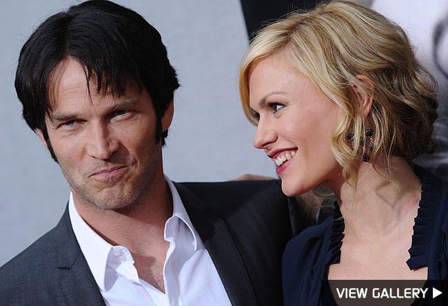 stephen moyer and anna paquin at the premiere of true blood
